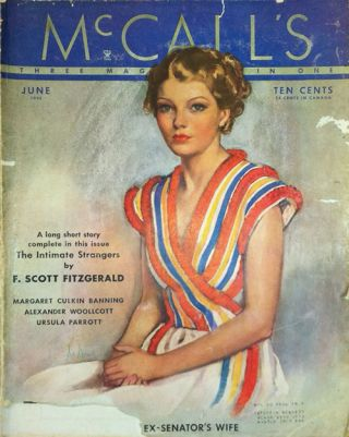 """The Intimate Strangers"" In McCall's Magazine June 1935. F. Scott Fitzgerald"