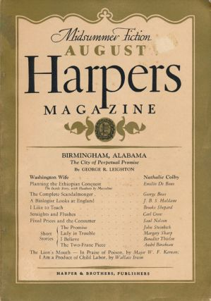 """The Promise, a Story"" In Harper's Magazine, No. 1047, August 1937. John Steinbeck"