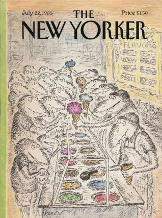 The New Yorker: July 22, 1985. John Updike, Polly Frost, Elizabeth Jolley, Whitney Balliet,...