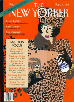 The New Yorker: September 21, 1998. Julian Barnes, Roger Angell, Tony Earley, John Updike,...