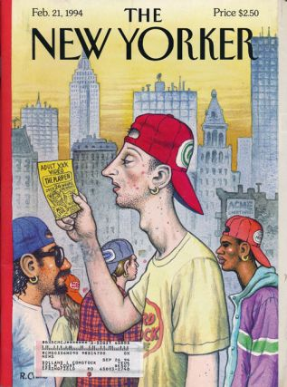 The New Yorker: February 21, 1994. Julian Barnes, John Updike, Muriel Spark, Andy Logan, Susan...