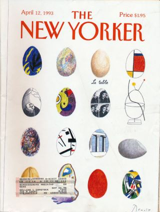 The New Yorker: April 12, 1993. Julian Barnes, Tony Hiss, Mary Anne Weaver, Norman Rush, Etc