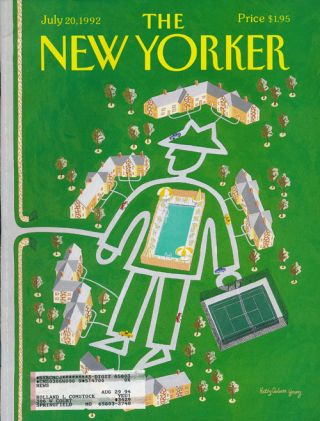 The New Yorker: July 20, 1992. Julian Barnes, Julie Hecht, John Updike, Andy Logan, Etc