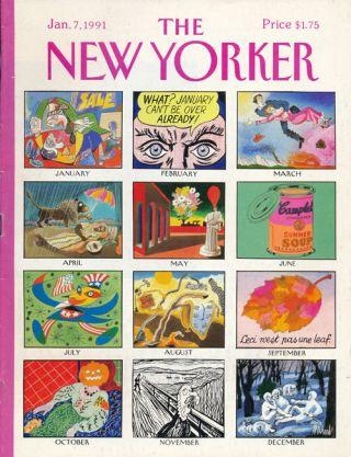 The New Yorker: January 7, 1991. Julian Barnes, Anthony Gianera, Padgett Powell, Jane Cooper, Etc