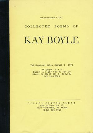Collected Poems of Kay Boyle. Kay Boyle