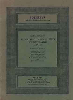 Catalogue of Clocks, Scientific Instruments and Watches. Sotheby's