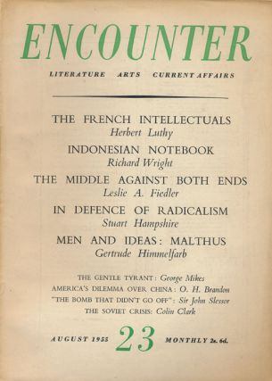 Encounter Vol 5, No 2 August 1955. Richard Wright, Alberto Moravia, J. F. Hendry, Burns Singer,...