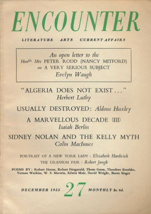 Encounter Vol 5, No 6 December 1955. Aldous Huxley, Evelyn Waugh, Isaiah Berlin, Dwight MacDonald
