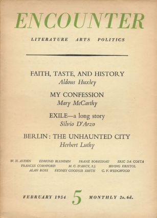 Encounter 5, Volume 11, Number 2, February 1954 Literature Arts Politics. Huxley Aldous, Mary...