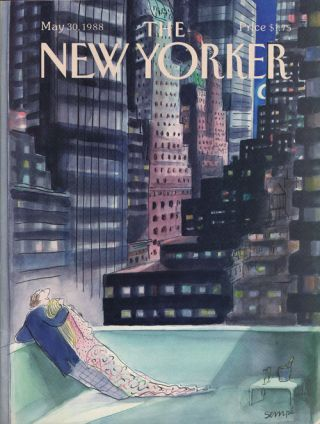 The New Yorker May 30, 1988. Mark Helprin, Richard Howard, Elizabeth Macklin, Jane Kramer, Sempe