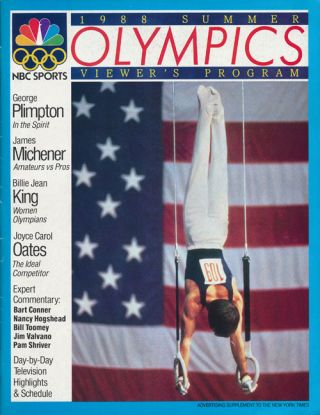 1988 Summer Olympics Viewer's Program Advertising Supplement to the New York Times. Joyce Carol...