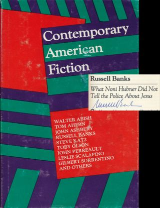 Contemporary American Fiction. Douglas Messerli, Russell Banks, Walter Abish, Gilbert Sorrentino,...
