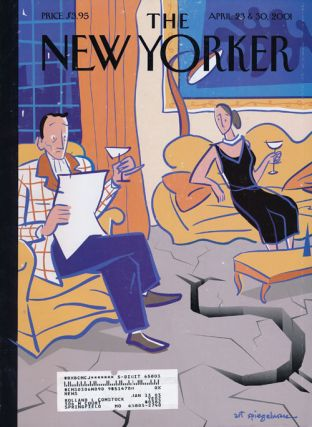 The New Yorker April 23 & 30, 2001. Jonathan Franzen, Desmond Barry, Margaret Atwood, Nicholson...