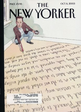 The New Yorker October 6, 2003. Gabriel Garcia Marquez, Tim Parks, Jonathan Franzen