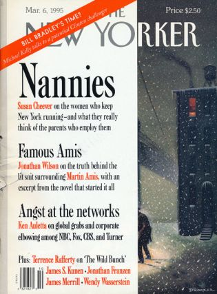 The New Yorker, March 6, 1995. Jonathan Franzen, Martin Amis, James Merrill, J. William Fulbright
