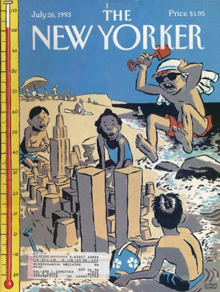 The New Yorker, July 26, 1993. Joan Didion, Martin Amis, Amy Bloom, Stanley Kunitz, Elizabeth Spires