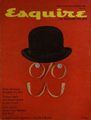 Esquire, September 1959 Volume LII, Vol. 3, Whole NO. 310. Truman Capote, Richard Avedon, Robert...
