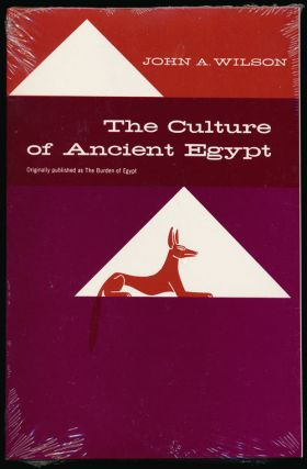 The Culture of Ancient Egypt. John A. Wilson
