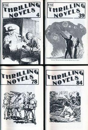 Thrilling Novels 4 Issues Numbers 4, 39, 84 and 78. Tom Johnson, Virginia Johnson