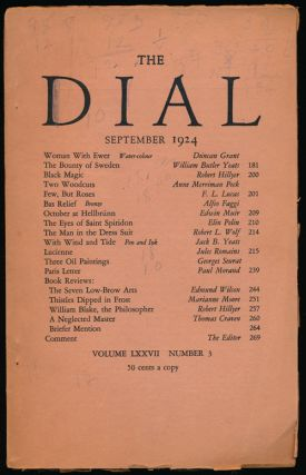 The Dial, September 1924 Volume LXXVII, Number 3. Duncan Grant, William Butler Yeats, Edwin Muir,...