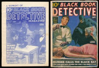 Black Book Detective Magazine - 2 Issues Brand of the Black Bat and Murder Call the Black Bat. G....