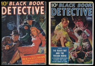 Black Book Detective Magazine - 2 Issues The Black Bat's Triumph and the Black Bat and the Trojan...