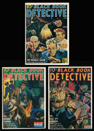 Black Book Detective Magazine - 3 Issues The Faceless Satan, The Murder Prophet and The Nazi Spy...