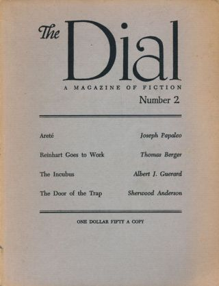 The Dial, Number 2, 1960 A Magazine of Fiction. Joseph Papaleo, Thomas Berger, A, Bert J....
