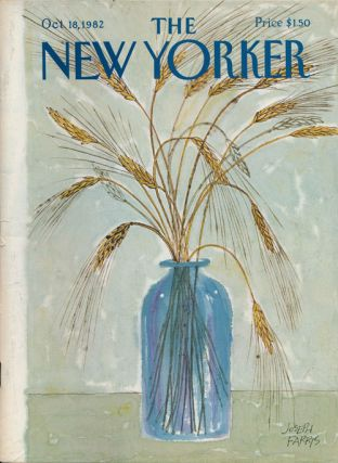New Yorker, October 18, 1982. Mark Helprin, Denis Johnson