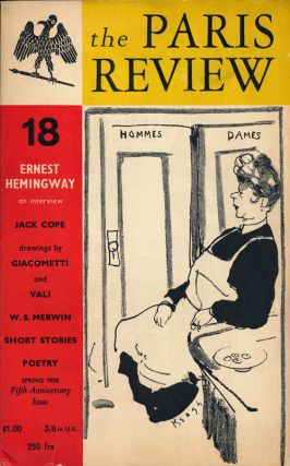 The Paris Review 18 Spring 1958. George Plimpton, Ernest Hemingway, Philip Roth, Giacometti,...