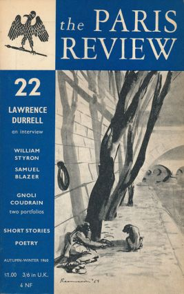 The Paris Review 22 Autumn-Winter 1959-1960. George Plimpton, Lawrence Durrell, William Styron,...