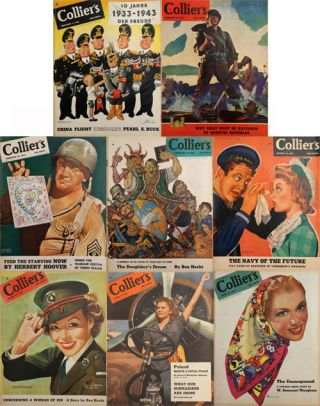 Collier's February 6-April 10, 1943 (8 Issues). Pearl S. Buck