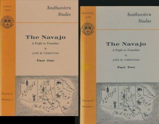 The Navajo: A People in Transition Parts One and Two. Jane M. Christian