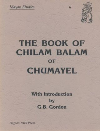Book of Chilam Balam of Chumayel