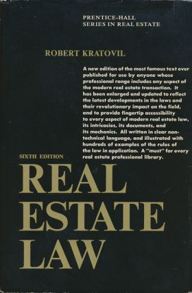 Real Estate Law Sixth Edition. Robert Kratovil