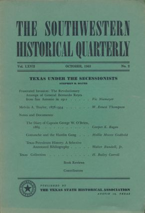 The Southwestern Historical Quarterly Texas under the Secessionists. H. Bailey Carroll