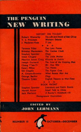 The Penguin New Writing Number 15 October-December. V. S. Pritchett, Robert Westerby, Terence...