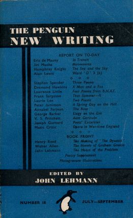 The Penguin New Writing 18. V. S. Pritchett, Humphrey Knight, Alun Lewis, Stephen Spender, Laurie...