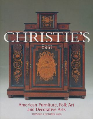 Christie's East. American Furniture, Folk Art and Decorative Arts; Tuesday 3 October 2000. Sale #...