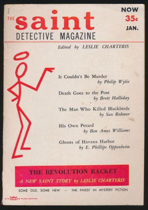 The Saint Magazine Vol 1, No 5 (January, 1954). Leslie Charteris, Sax Rohmer, August Derleth
