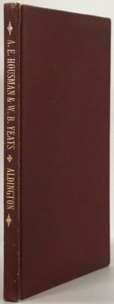 A. E. Housman & W. B. Yeats Two Lectures. Richard Aldington