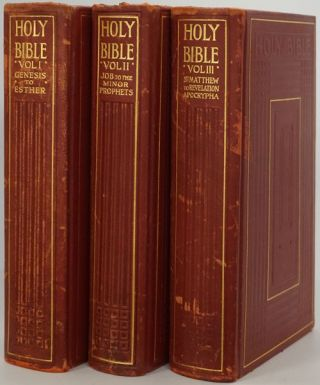 The Holy Bible Containing the Old & New Testaments & the Apocrypha (Compete 3 Volume Leather Set