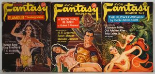 Avon Fantasy Reader Nos 9,10,11 (3 Complete Issues). Donald Wollheim, Clark Ashton Smith, Fritz...