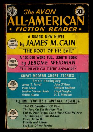 The Avon All-American Fiction Reader. Ernest Hemingway, James M. Cain, James T. Farrell, Irwin...