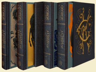 Game of Thrones and A Clash of Kings (5 Volumes in 2 Slipcases). George R. R. Martin